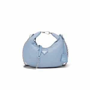 Prada Astral Blue Nylon Re-Edition 2006 Hobo Bag