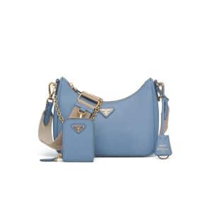Prada Astral Blue Saffiano Leather Re-Edition 2005 Shoulder Bag