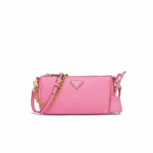 Prada Begonia Pink Saffiano Leather Re-Edition 2000 Mini Shoulder Bag