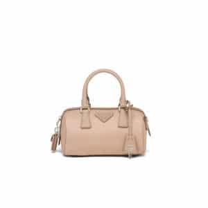 Prada Beige Nylon Re-Edition 2005 Top Handle Bag