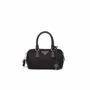 Prada Black Nylon Re-Edition 2005 Top Handle Bag