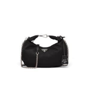 Prada Black Nylon Re-Edition 2006 Hobo Bag