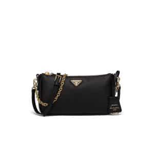 Prada Black Saffiano Leather Re-Edition 2000 Mini Shoulder Bag