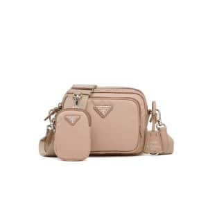 Prada Cameo Beige Nylon Re-Edition 2005 Mini Crossbody Bag