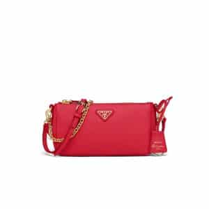 Prada Fiery Red Saffiano Leather Re-Edition 2000 Mini Shoulder Bag