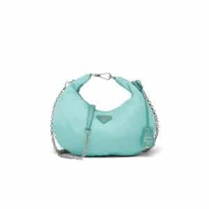 Prada Jade Green Nylon Re-Edition 2006 Hobo Bag