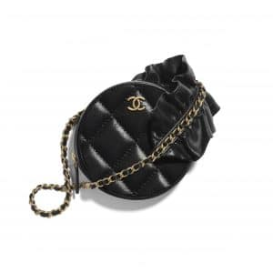 Chanel Black Bag Romance Clutch with Chain