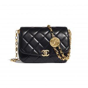 Chanel Black CC Coin Flap Bag