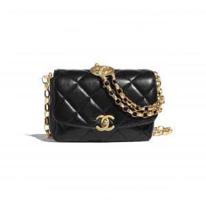 Chanel Black CC Coin Small Flap Bag