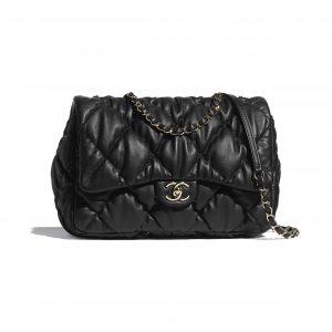 Chanel Black Calfskin Large Flap Bag