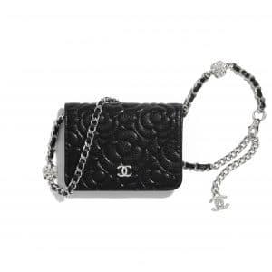 Chanel Black Camellia Belt Bag