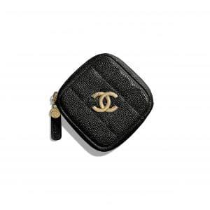 Chanel Black Diamond Coin Purse