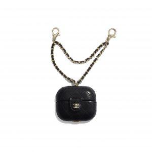 Chanel Black Lambskin AirPods Pro Case