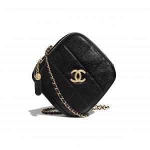 Chanel Black Small Diamond Bag