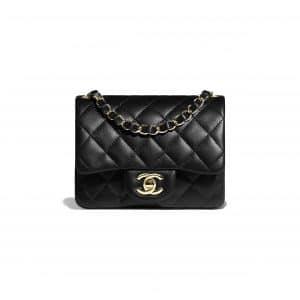 Chanel Black Square Mini Classic Flap Bag