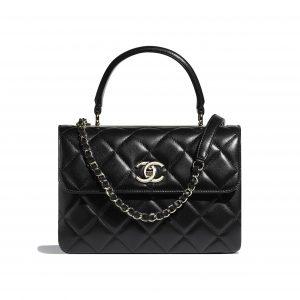Chanel Black Trendy CC Small Top Handle Bag