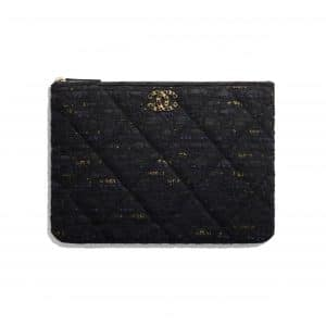 Chanel Black Tweed Chanel 19 Pouch