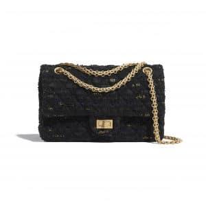 Chanel Black Tweed Reissue 2.55 225 Bag
