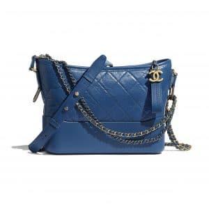 Chanel Dark Blue Aged Calfskin Gabrielle Hobo Bag