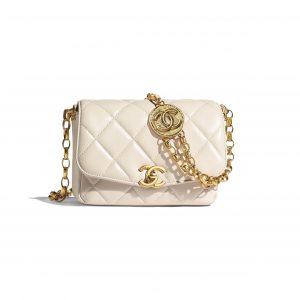 Chanel Ecru CC Coin Small Flap Bag