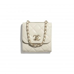 Chanel Ecru Trendy CC Clutch with Chain