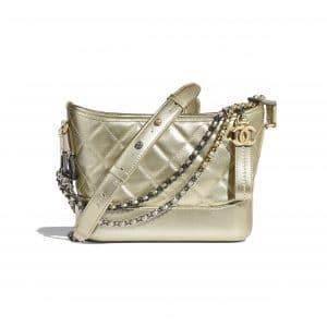 Chanel Gold Aged Calfskin Gabrielle Small Hobo Bag