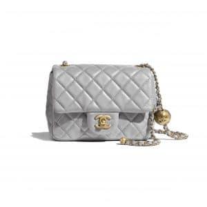 Chanel Gray Pearl Crush Mini Flap Bag