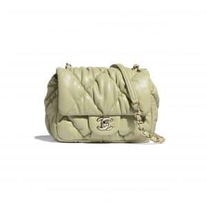 Chanel Green Calfskin Small Flap Bag