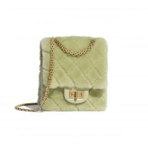 Chanel Green Shearling Lambskin Mini Reissue 2.55 Bag