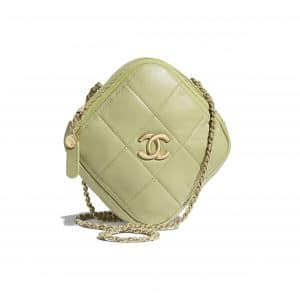 Chanel Green Small Diamond Bag