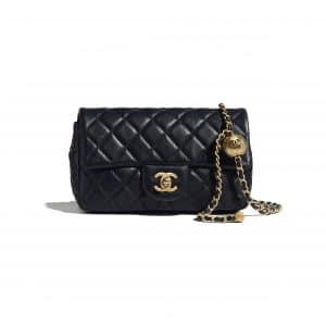 Chanel Navy Blue Pearl Crush Flap Bag