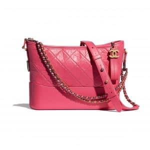 Chanel Pink Aged Calfskin Gabrielle Hobo Bag