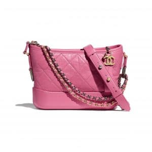 Chanel Pink Aged Calfskin Gabrielle Small Hobo Bag