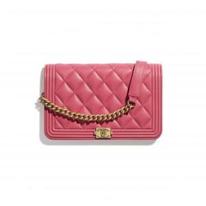 Chanel Pink Boy Wallet on Chain