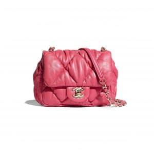 Chanel Pink Calfskin Small Flap Bag