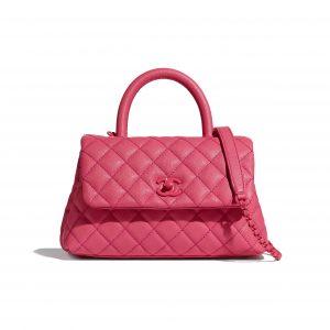 Chanel Pink Small Coco Handle Bag