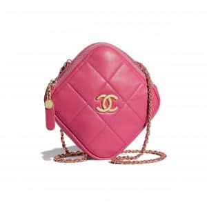 Chanel Pink Small Diamond Bag