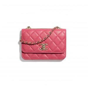 Chanel Pink Trendy CC Clutch with Chain