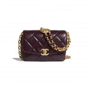 Chanel Purple CC Coin Small Flap Bag