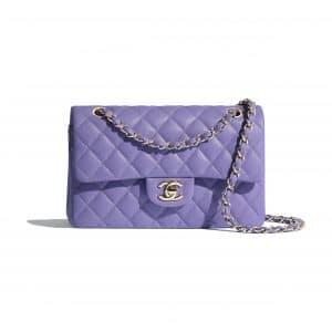 Chanel Purple Small Classic Flap Bag