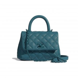 Chanel Turquoise Mini Coco Handle Bag