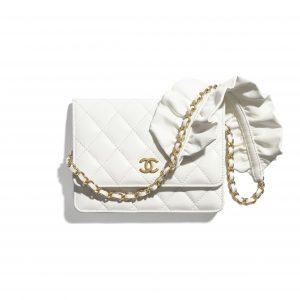 Chanel White Bag Romance Mini Wallet on Chain