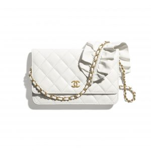 Chanel White Bag Romance Wallet on Chain