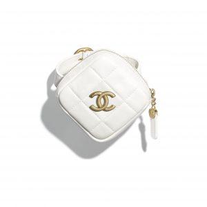 Chanel White Diamond Arm Coin Purse