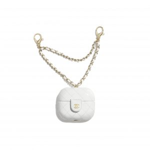 Chanel White Lambskin AirPods Pro Case
