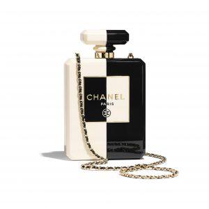 Chanel White:Black Resin Evening Bag