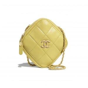 Chanel Yellow Small Diamond Bag