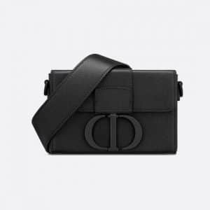 Dior Black Ultramatte 30 Montaigne Box Bag