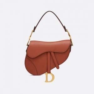 Dior Dark Tan Saddle Bag