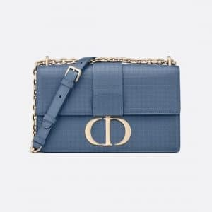 Dior Denim Blue 30 Montaigne Chain Bag